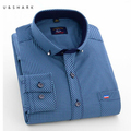 U&SHARK Mens Casual Blue Plaid Shirt Long Sleeve Dress Shirt Men Business Formal Shirts Male Clothing Social Camisa Masculina