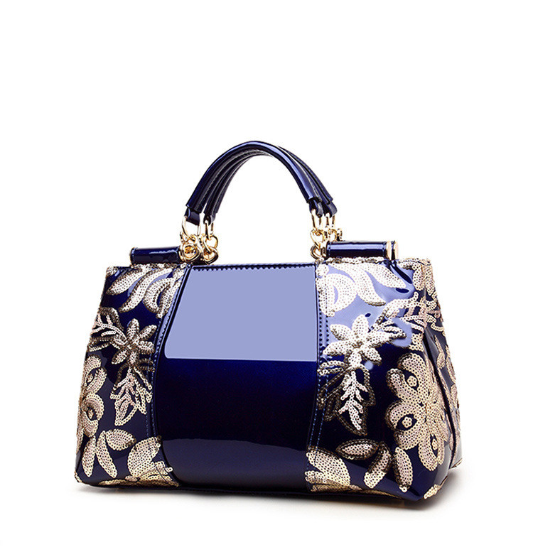 ICEV 2018 new embroidery luxury handbag designer high quality patent leather  ladies office bags handbags women famous brands e3a8e2056cc30
