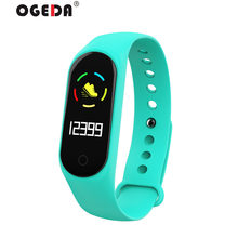 OGEDA 2019 Sport Mannen Smart Horloge Bluetooth M3s Backlight Mode Top Pulse Fitness Tracker LED Digitale Kleurenscherm Waterdichte(China)