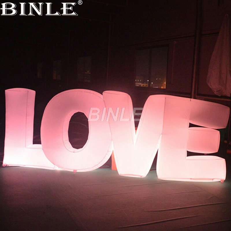Hot!16 colors LED lighting giant inflatable love letters alphabet advertising inflatable numbers for wedding party decoration светофильтр gopro dive filter for standard housing