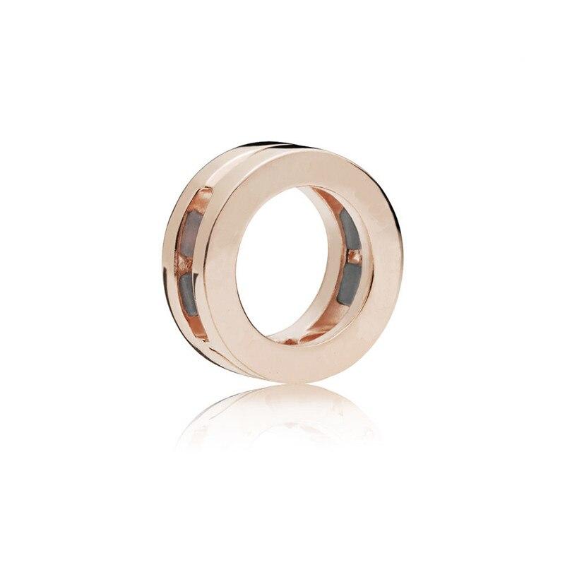 Reflexiones ronda O rosa de oro perlas para la fabricación de la joyería DIY cuentas reflexiones pulseras de las mujeres de la moda joyería de plata 925