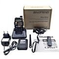 BAOFENG New Dual Band Amador Handheld Rádio Em Dois Sentidos UV-5RE UHF/VHF 128 Canais FM Ham walkie talkie Transceptor fone de ouvido