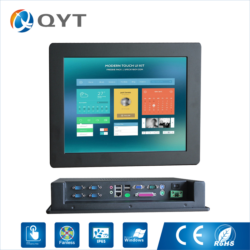 15'' 8GB RAM/DDR3 Industrial Computer with Touch Screen Fanless mini PC Celeron C1037U 1.8GHz All In One pc With 5*com LPT VGA hot sell 10 1 inch all in one pc fanless with ram 2gb ssd 32gb industrial tablet pc for touch screen kiosk