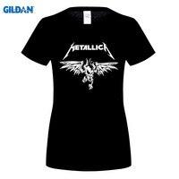 GILDAN Clásico Metallica Heavy Metal Rock Camiseta de las mujeres T Shirt Para la mujer Nueva Manga Corta Casual Top Tee Camisetas Masculina