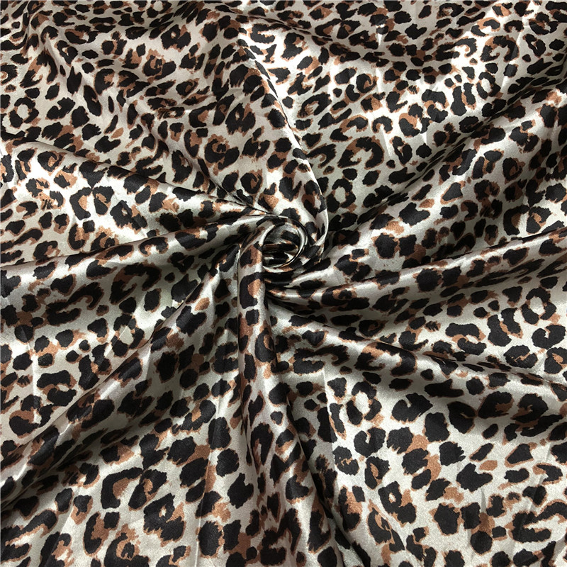 Printed Satin with Animal Print
