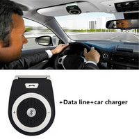 Bluetooth Handsfree Car Kit Wireless Auto Speakerphone Carkit Sun Visor Speaker for Car Phone Hands Free Adapter Car MP3 Player
