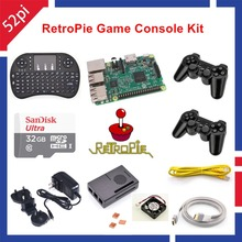 32GB RetroPie Game Kit with Raspberry Pi 3 Model B Wireless Controllers Gamepad Joypad Joystick