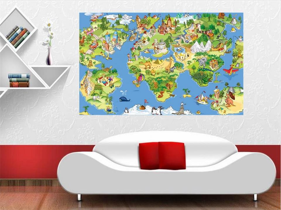 3d photo wallpaper custom living room kids mural cartoon world map 3d photo wallpaper custom living room kids mural cartoon world map 3d painting picture non woven sticker wallpaper for walls 3d in wallpapers from home gumiabroncs Choice Image