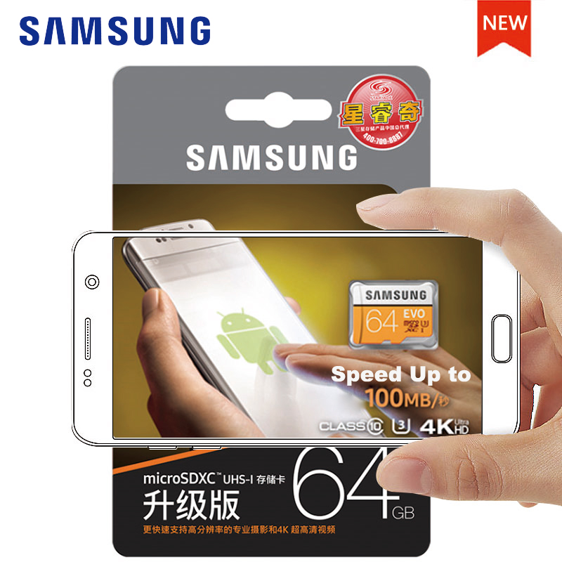 Original SAMSUNG Micro SD <font><b>Memory</b></font> <font><b>Card</b></font> 128GB EVO+ Plus 256GB 64GB <font><b>32GB</b></font> 16GB Class10 TFCard C10 SDHC/SDXC UHS-I4K For Mobile <font><b>Phone</b></font>