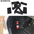 Car Trunk Fire Extinguisher Receive Content Bag Storage Magic Tape Universal Internal Decoration Supplies Stickers Car-styling