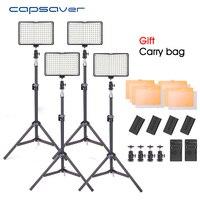 Capsaver TL 160S 4pcs LED Video Light Studio Photo Photography Lighting Tripod For YouTube Shooting 3200K