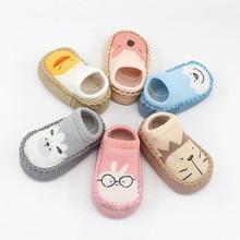 Newborn Baby Prewalker Shoes Infant Cartoon Girl Boy Indoor Floor Toddler Socks With Rubber Soles Non-Slip Towel