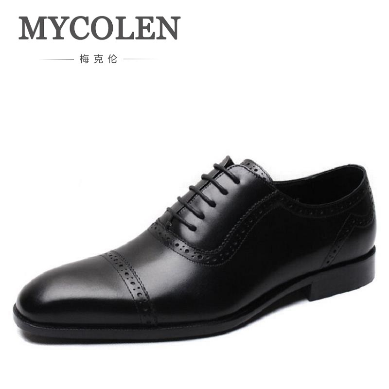 MYCOLEN Mens Dress Shoes Office Lace-Up Leather Shoes Mens Party Driving Oxfords Sapato Social Vintage Carved Brogue FlatsMYCOLEN Mens Dress Shoes Office Lace-Up Leather Shoes Mens Party Driving Oxfords Sapato Social Vintage Carved Brogue Flats