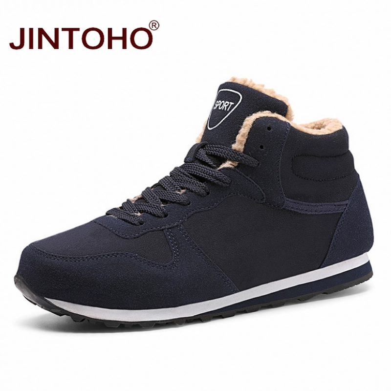 JINTOHO Big Size Unisex Winter Snow Shoes Brand Men Winter Boots Warm Snow Boots For Men Fashion Casual Male Shoes Ankle Boots