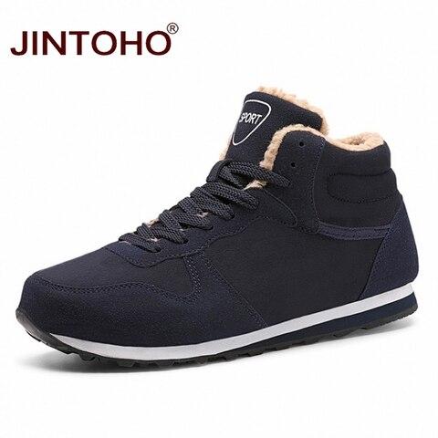 JINTOHO Big Size Unisex Winter Snow Shoes Brand Men Winter Boots Warm Snow Boots For Men Fashion Casual Male Shoes Ankle Boots Pakistan