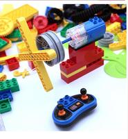duploes Building block ST2201 large motor remote control compatible with technic 9656 KJ018 electric teaching aid