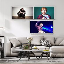 Canvas Poster Silk Fabric Hot Ed Sheeran Home Decoration Print Stylish Retro Decor