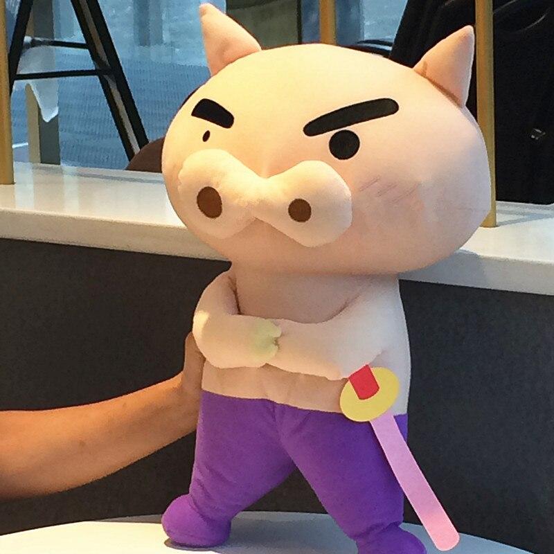 42CM big JAPAN Crayon Shin chan Plush Stuffed Animal Doll Buriburi Zaemon Birthday presents for children