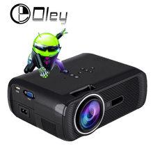 OLEY CTL-80 Android 4.4 Smart Wifi Bluetooth 1800Lumens mini portable LED LCD video home theater projector projector Beamer aun