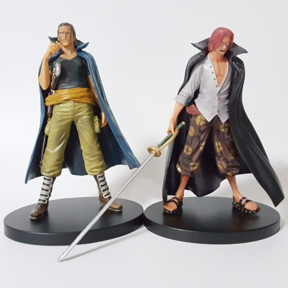 2PCS One Piece Action Figure Beckman Shanks PVC Onepiece Gold Anime Collectible Model Toys 17CM