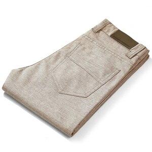 Image 3 - HCXY Brand 2019 Summer high quality Mens Linen Pants man Casual thin trousers Men pantalones male pants Plus size 38