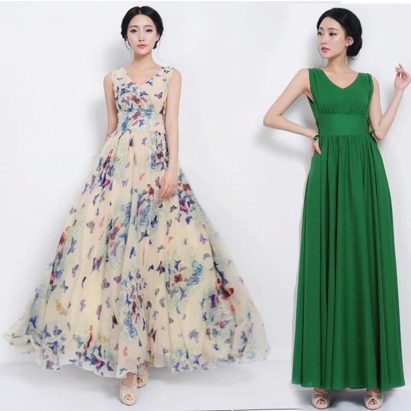 New 2014 Women Summer Maxi Dresses Long Beach Dress Woman