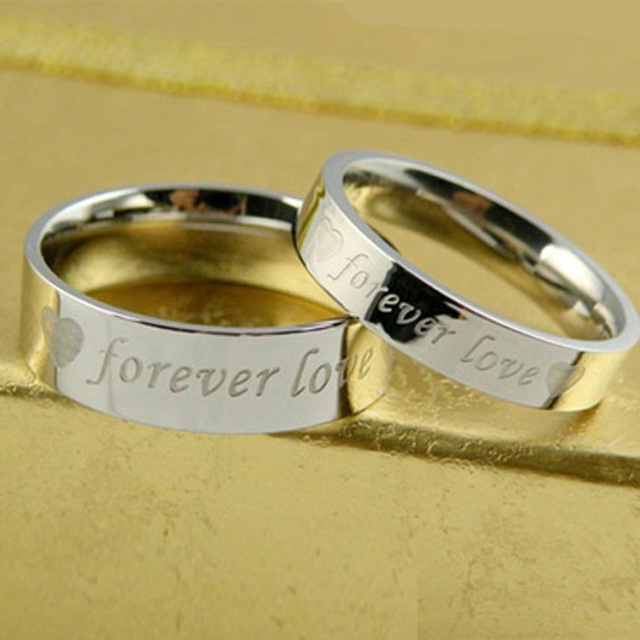 1d517871ef 2017 wedding Love Forever commitment couple ring Fashion silver plated rings  lovers jewelry