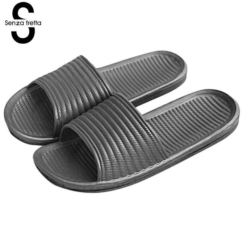 Senza Fretta Men Home Slipper Shoes Slide Sandals Shower Slippers House Pool Gym Sandal Slippers Men Outdoor Slippers Shoes 6 4 4m bounce house combo pool and slide used commercial bounce houses for sale