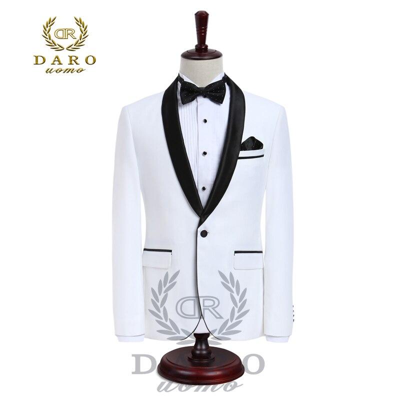 DARO Luxury Mens Suits Jacket Pants Formal Dress Men Suit Set Wedding Suits Groom Tuxedos (Jacket+Pants)