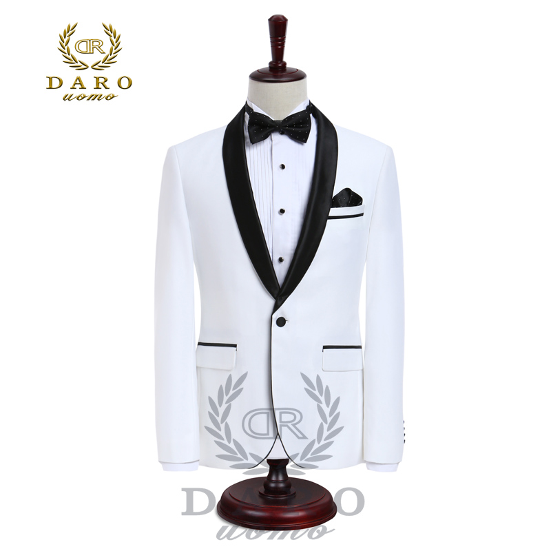 DARO luxe hommes costumes veste pantalon formel robe hommes costume ensemble mariage costumes marié Tuxedos (veste + pantalon) DARO8858