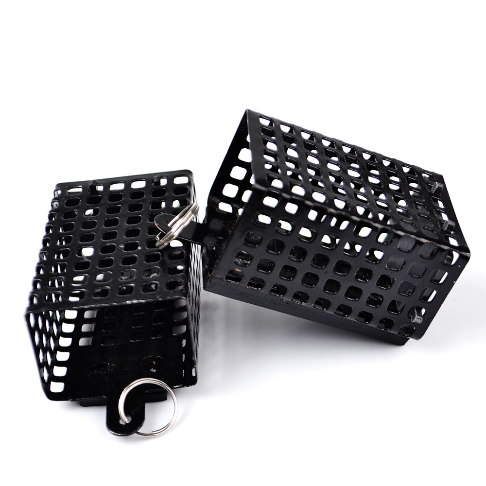 FISH KING Square Metal Bait Cage 1pc/lot Lure Container Bait Basket Feeder Holder Wire Carp Fishing Sinker for Button Rigs 710