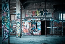 Laeacco Grunge Graffiti Interior Photography Backgrounds Customized Photographic Backdrops For Photo Studio
