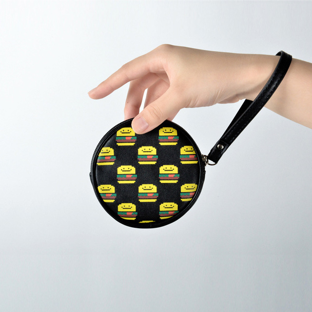 Kiitos new product Food series fresh lovely PU leather circular coin purse