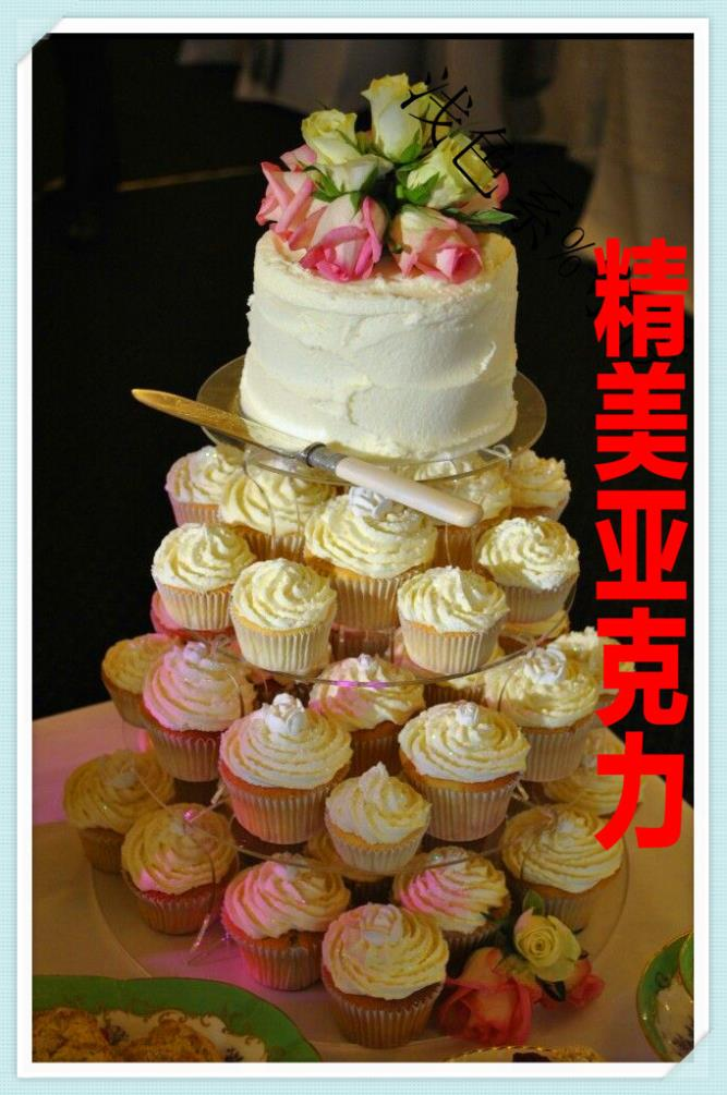 Europe type removable acrylic 4 tier cake tower wedding cake decorations exhibits acrylic cupcake stands
