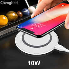Qi Wireless Fast Charger 9V Ultra-light Wireless Charging Pad for IPhone XS 8 8 Plus for Samsung Galaxy Note S9/S8/S8+/S7/S6 accezz 10w fast qi wireless charging pad for samsung galaxy s6 s8 s7 note 8 iphone x 8 plus ultra thin phone wireless charger