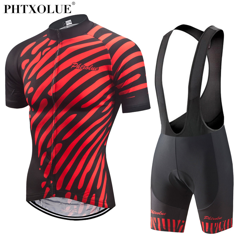 Phtxolue 2018 Cycling Clothing Men Jersey Sets Bike Breathable Anti-UV Bicycl...