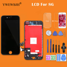 YWEWBJH 10PCS Grade AAA For iPhone 8 LCD Glass Touch Screen Digitizer LCD Assembly Replacement Good 3D Free Shipping DHL