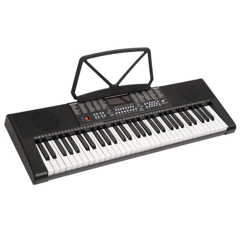 MK-2117 255 Timbres 255 Rhythms Electronic Keyboard 61 Keys LED Display Electronic Organ 3-Step Lesson Digital Piano