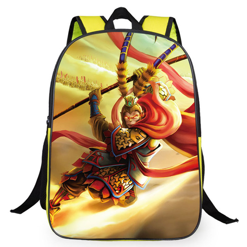 Hot Monkey King: Hero Back 3D cartoon embossing pupil school backpacks boys girls students bag - The Most store