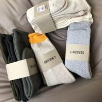 Men Women Long Socks Hip Hop Streetwear Season 7 Kanye West Calabasas Fear of God Essentials Winter Popsocket Harajuku Socks