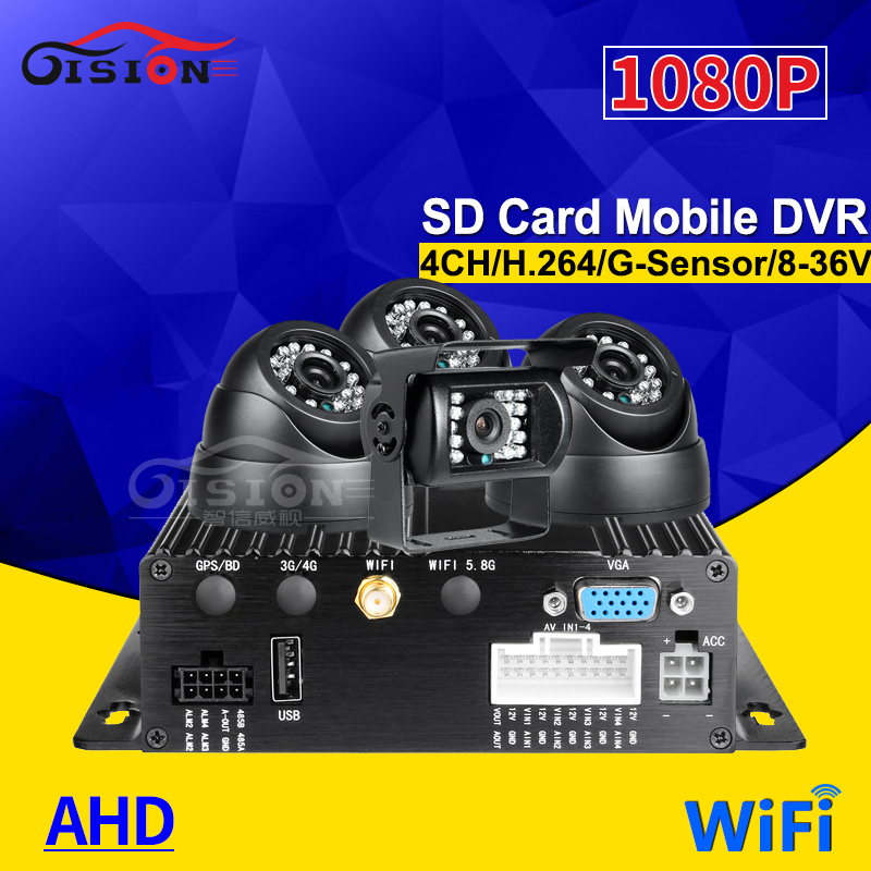 Free Shipping Wifi 4CH AHD Vehicle Mobile Dvr Video Recorder +4Pcs 2.0Mp Bus/Truck Camera Support Remote Video 24H Monitoring Free Shipping Wifi 4CH AHD Vehicle Mobile Dvr Video Recorder +4Pcs 2.0Mp Bus/Truck Camera Support Remote Video 24H Monitoring