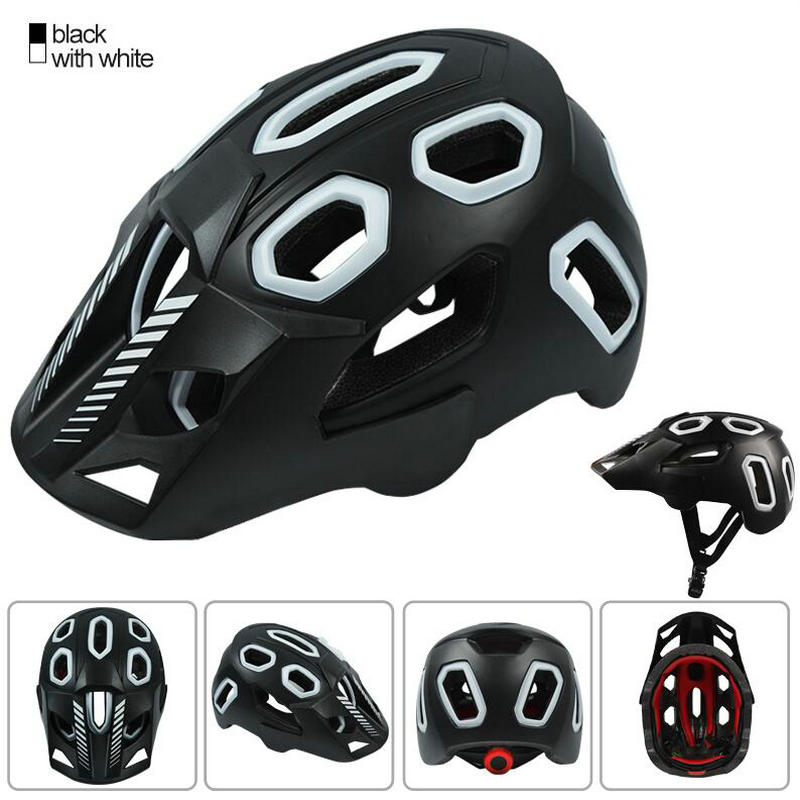 Professional Mountain Bike Bicycle Helmet 15 Vents Breathable Safety Integrally-Molded Helmet For Road MTB Cycling Helme58-62cm basecamp mtb road bike bicycle cycling helmet integrally molded 27 air vents helmet