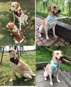 Image 4 - Bavoir pour animaux de compagnie, en coton, 50/100 pièces, Bandana, écharpe pour petits et grands chiens, motif flamand, pour chiots, accessoires dété, fournitures pour chiens