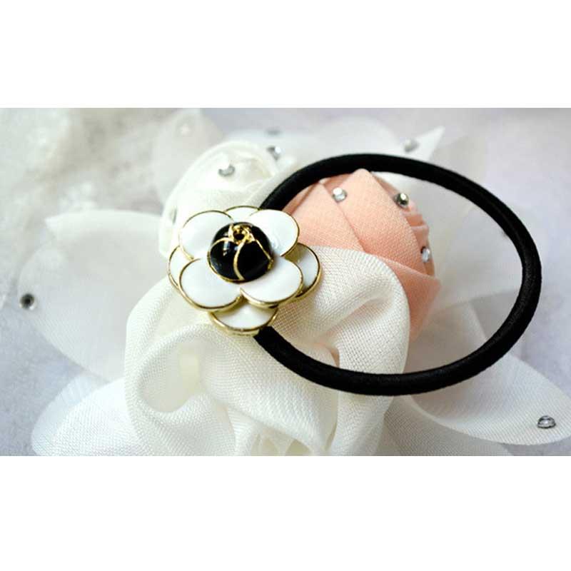 New Arrival Small fragrant Camellia Scrunch hair rope Korean fashion Woman headbands