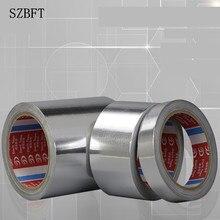 0.05mm thickness Aluminium Foil Adhesive Sealing Tape Thermal Resist Duct Repairs High Temperature Resistant Foil Adhesive Tape