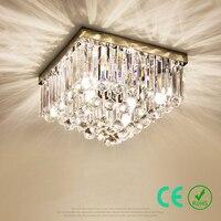Żyrandol światła E14 95-245 v Ze stali Nierdzewnej K9 kryształ Duży Kwadrat Nowoczesny Proste Sypialni Światła Hotelu CE ROSZ wykonane na Zamówienie