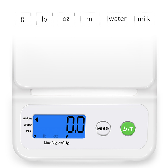 kitchen scale Lcd display 3000g/0.1g