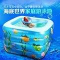 Mejor venta 110*110*70 cm niño piscina inflable bebé piscina inflable deportes acuáticos inflables piscina para envío libre del verano