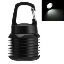 Aluminium Alloy Outdoor COB LED Carabiner Mini Torch Safe Work Keychain Flashlight Night Light Camping Battery Powered Emergency