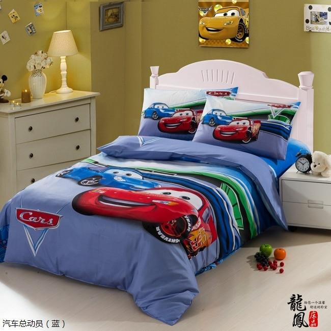 kids race car bedding set boys queen twin size cartoon blue bedspreads duvet cover bed in a bag. Black Bedroom Furniture Sets. Home Design Ideas